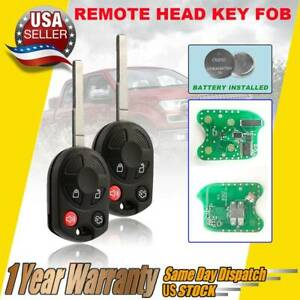 Pack Of 2 Keyless Remote Key Fob For Ford Focus Transit Oucd6000022 164 R8046