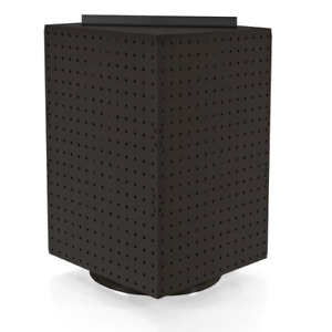 Azar 701414 blk Pegboard 4 sided Revolving Counter Display Black Solid Color