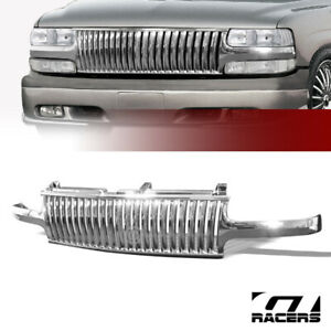 For 1999 2006 Chevy Silverado tahoe suburban Chrome Vertical Front Bumper Grille