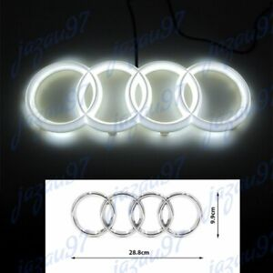 Led Grill Emblem 28cm For Audi A3 A4 A5 A6 A7 Q3 Q5 Q7 White Grille Front Hood