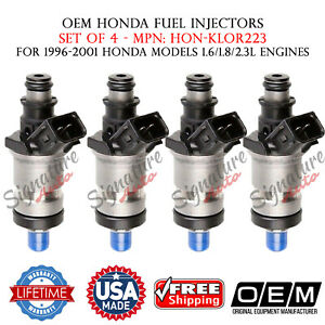 4x Oem Honda Fuel Injectors For Odyssey acura crv civic accord1 6l 1 8l 2 3l