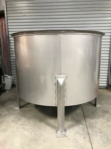 Brand New 500 Gallon Stainless Steel Open Top Holding mix We Build Custom Tanks