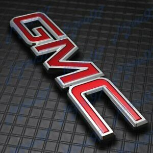 New Front Grille Red Emblem Badge For 2014 2018 Gmc Sierra 1500 2500hd 3500hd