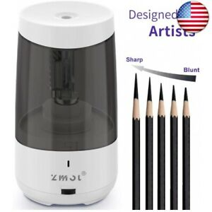 Long Point Pencil Sharpener For Artists heavy Duty Electric Pencil White white