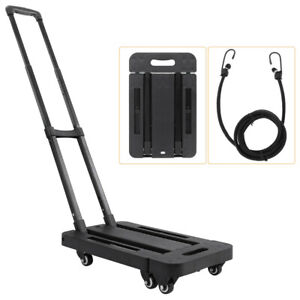 Cart Folding Dolly Push Hand Truck Collapsible Trolley Luggage Moving Portable