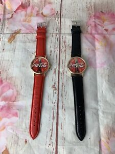Coca cola watch Black And Red Color Pack Of 2