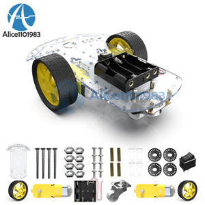 2x 2wd Smart Robot Car Chassis Kit speed Encoder Battery Box Arduino Motor 1 48