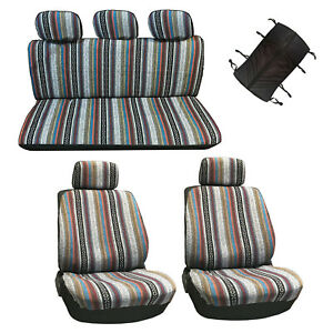 10 Pc Universal Baja Inca Saddle Mexican Blanket Seat Cover Set