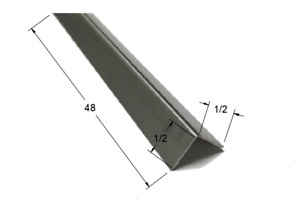 1 2 X 1 2 X 48 Stainless Steel Corner Guard 90 Degree Angle 20ga