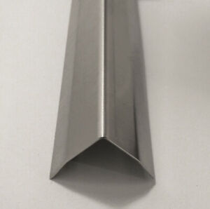 1x1x48 Stainless Steel Corner Guards W Hug Edges 90 Degree Angles 20 Pack