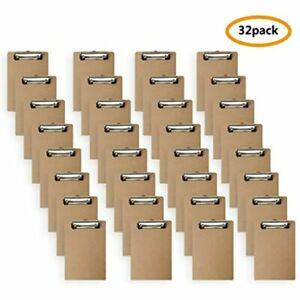 Mini Clipboard 6 X 9 Inches Small Hardboard Pack Of 32 Office Products