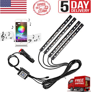 Led Rgb Floor Strip Lights With Music Changing Wireless Light Remote Control Us
