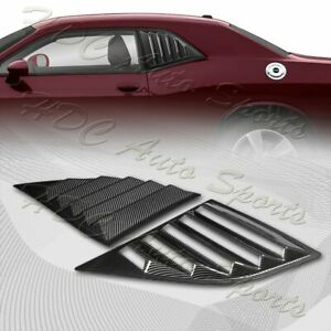 For 2008 2019 Dodge Challenger Carbon Style Side Window Louvers Scoop Cover Vent