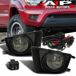 Driving Fog Lights Lamps Smoked Len Wiring Harness For 2012 2015 Toyota Tacoma