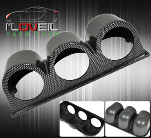 Carbon Fiber Dash Gauge Pod Tri 3 Holder 52mm Racing Vip B16 B18 F22 H22 K20 K24