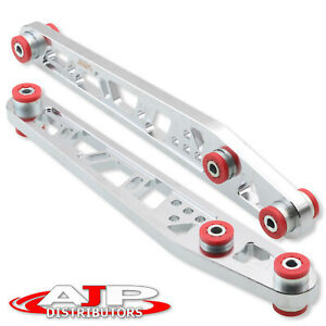 Silver Red Rear Suspension Lower Control Arms Braces Lca Jdm For 1996 2000 Civic