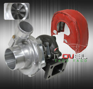 Jdm T3 t4 T3 Hybrid Turbo Charger 57 A r W Red Heat Wrap Shield Blanket Cover