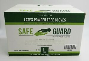 Large Latex Gloves 1000 Count Powder Free lglpf
