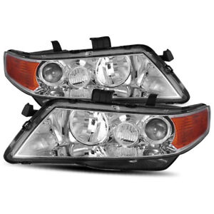 For 2004 2005 2006 2007 2008 Acura Tsx Chrome Projector Headlight