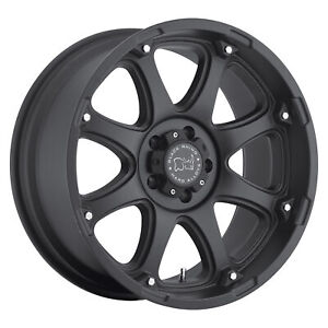 Black Rhino Glamis 17x9 5x139 7 0mm Matte Black 4 Wheels Free Lug Nuts
