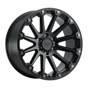 Black Rhino Pinnacle 17x8 5 5x127 0mm Semi Gloss Black 4 Wheels Free Lug Nuts
