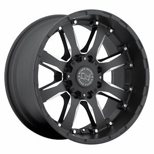 Black Rhino Sierra 17x9 8x165 12mm Gloss Black 4 Wheels Free Lug Nuts