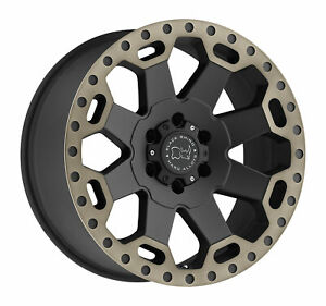 Black Rhino Warlord 17x9 8x180 12mm Matte Black 4 Wheels Free Lug Nuts