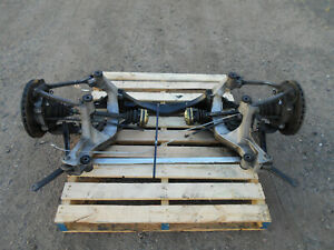 2002 02 03 04 Porsche 911 996 Turbo Rear Suspension Sub Frame Axles 7596