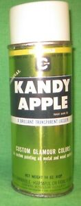 Vintage Cal Custom Kandy Apple Lime Gold Spray Paint Paper Label New Old Stock