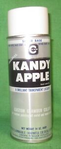 Vintage Cal Custom Kandy Apple Silver Base Spray Paint Paper Label New Old Stock