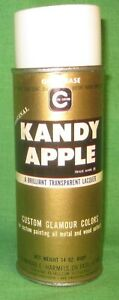 Vintage Cal Custom Kandy Apple Gold Base Spray Paint Paper Label New Old Stock