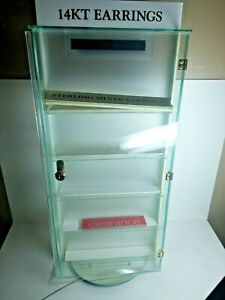 Glass Countertop Display Case Store Fixture Showcase With Lock No Keys