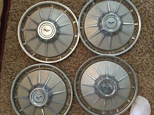 Corvair Parts Set 4 Hubcaps For 1961 To 1962