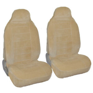 Encore Velour Seat Covers For Bucket Seats Beige 2pc
