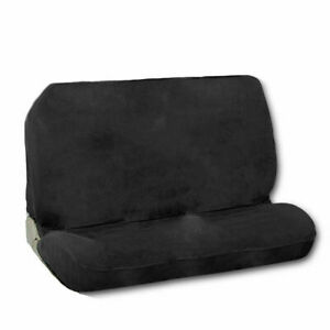 New Universal Full Size Bench Truck Seat Cover Black Encore Velour