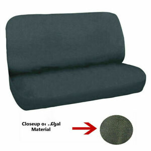 New Universal Full Size Bench Truck Seat Cover Regal Velour Grey