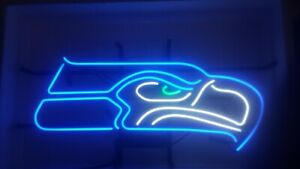 Seattle Seahawks 17 x14 Neon Sign Lamp Light Glass Beer Bar With Dimmer