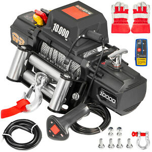 10000lbs Electric Winch Waterproof Truck Trailer 98 5ft Steel Rope Off Road 4wd