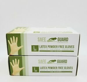 Large Latex Gloves powder Free 200 Count lglpfx2