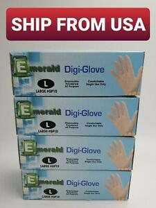 Large Latex Gloves lightly Powdered 400 Count lglx4