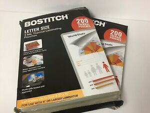 Lot Of 400 Bostitch 8 5 x11 Letter Size 3 Mil Thermal Laminating Pouches damage