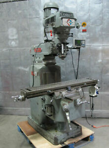 Comet 3kv Vertical Mill Milling Machine 10 X 50 Dro 3 Hp Bridgeport Style Nice