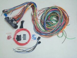 1949 54 Chevy 150 210 12v 24 Circuit 15 Fuse Wiring Harness Wire Kit Upgrade