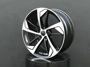 19x8 5 Inch Wheels Rims 5x112 Et35 Black For Audi A3 A4 A5 A3 Vw Gti Golf Jetta