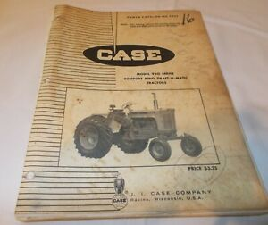 Vintage Case 930 Series Comfort King Draft o matic Tractor Parts Catalog c929