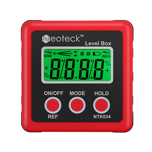 360 Digital Lcd Protractor Gauge Level Box Angle Finder Inclinometer Magnetic