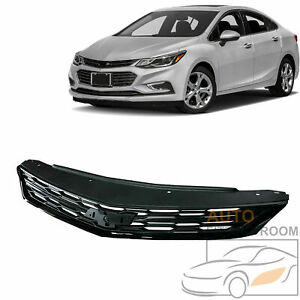 For 2016 2018 Chevrolet Cruze Sedan All Black Front Grill Bumper Upper Grille
