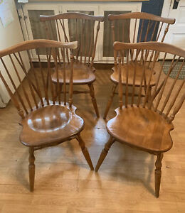 Ethan Allen Heirloom Duxbury Maple Nutmeg Chairs Set Of 4 10 6020