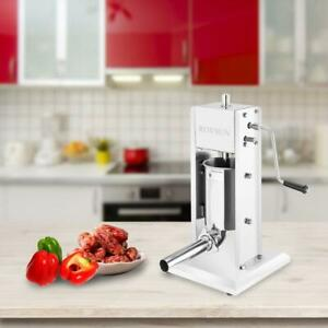 3l Vertical Commercial Home Sausage Stuffer 2 Speed Stainless Meat Press 2020