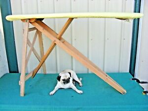Antique Vintage Wood Ironing Board Folding Table